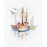 """Набор для вышивания крестом Алиса """"Лодки на рассвете"""""""