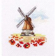"""Набор для вышивания крестом Алиса """"Мельница в маковом поле"""""""