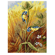 """Канва/ткань с нанесенным рисунком Orchidea """"Птички"""""""