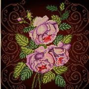 """Ткань с рисунком для вышивки бисером Божья коровка """"Бархатная роза"""""""