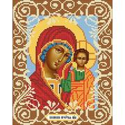 """Ткань с рисунком для вышивки бисером Божья коровка """"Богородица Казанская"""""""