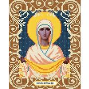 """Ткань с рисунком для вышивки бисером Божья коровка """"Богородица покрова"""""""