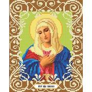 """Ткань с рисунком для вышивки бисером Божья коровка """"Богородица Умиление"""""""