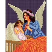 """Ткань с рисунком для вышивки бисером Божья коровка """"Ангел"""""""
