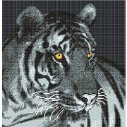 """Ткань с рисунком для вышивки бисером Божья коровка """"Тигр"""""""