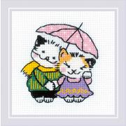 """Набор для вышивания крестом Риолис """"Котомания. Двое под дождем"""""""
