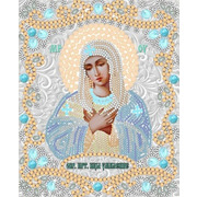 """Ткань с рисунком для вышивки бисером Конёк """"Богородица Умиление"""""""
