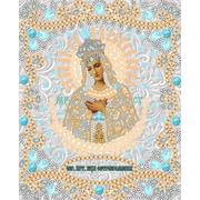 """Ткань с рисунком для вышивки бисером Конёк """"Богородица Остробрамская"""""""