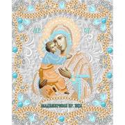 """Ткань с рисунком для вышивки бисером Конёк """"Богородица Владимирская"""""""