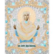 """Ткань с рисунком для вышивки бисером Конёк """"Богородица Покрова"""""""
