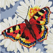 """Набор для выкладывания мозаики Белоснежка """"Бабочка в ромашках"""""""