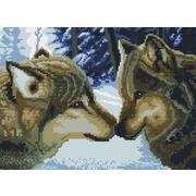 """Набор для выкладывания мозаики Белоснежка """"Два волка"""""""