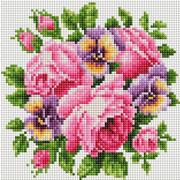 """Набор для выкладывания мозаики Белоснежка """"Розы и анютины глазки"""""""