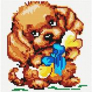 """Набор для выкладывания мозаики Белоснежка """"Собачка с подарком"""""""