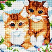 """Набор для выкладывания мозаики Белоснежка """"Рыжие котята"""""""