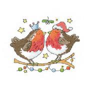 """Набор для вышивания крестом Heritage """"Новогодний поцелуй"""""""