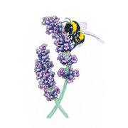 """Набор для вышивания крестом Heritage """"Пчела на лаванде"""""""