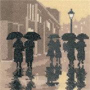 """Набор для вышивания крестом Heritage """"Во время дождя"""""""