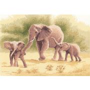 """Набор для вышивания крестом Heritage """"Слоны"""""""