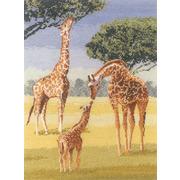 """Набор для вышивания крестом Heritage """"Жирафы"""""""