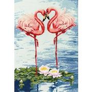 """Набор для вышивания крестом Золотое Руно """"Свидание Фламинго"""""""