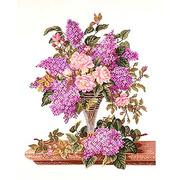 """Набор для вышивания крестом Eva Rosenstand """"Сирень и розы"""""""