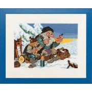 """Набор для вышивания крестом Eva Rosenstand """"Зимний пикник"""""""