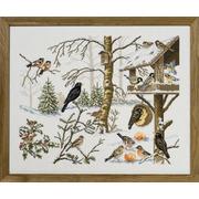 """Набор для вышивания крестом Eva Rosenstand """"Кормушка для птиц"""""""