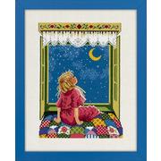 """Набор для вышивания крестом Eva Rosenstand """"Девочка и звезды"""""""