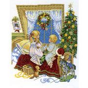"""Набор для вышивания крестом Eva Rosenstand """"Малыши в кроватке"""""""