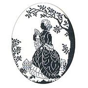 """Набор для вышивания крестом Eva Rosenstand """"Дама с веером"""" (силуэт)"""