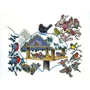 """Набор для вышивания крестом Eva Rosenstand """"Птичья кормушка"""""""