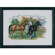 """Набор для вышивания крестом Eva Rosenstand """"Три лошади"""""""
