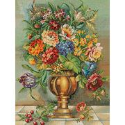 """Набор для вышивания крестом Eva Rosenstand """"Цветы в бронзовой вазе"""""""