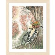 """Набор для вышивания крестом LANARTE """"Велосипед и цветочная корзина"""""""