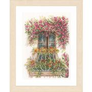 """Набор для вышивания крестом LANARTE """"Цветы на балконе"""""""