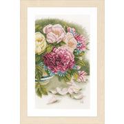 """Набор для вышивания крестом LANARTE """"Пионовидные розы"""""""