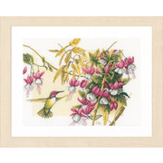 """Набор для вышивания крестом LANARTE """"Колибри и цветы"""""""