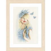 """Набор для вышивания крестом LANARTE """"Голубая бабочка"""""""