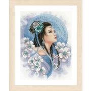 """Набор для вышивания крестом LANARTE """"Азиатская девушка в синем"""""""