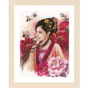 """Набор для вышивания крестом LANARTE """"Азиатская девушка в розовом"""""""