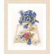 """Набор для вышивания крестом LANARTE """"Голубые цветы"""""""