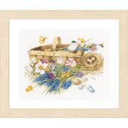 """Набор для вышивания крестом LANARTE """"Весенние цветы"""""""