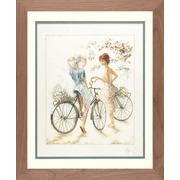 """Набор для вышивания крестом LANARTE """"Девушки на велосипедах"""""""