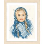 """Набор для вышивания крестом LANARTE """"Зимняя девочка"""""""