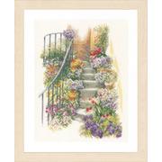 """Набор для вышивания крестом LANARTE """"Цветочная лестница"""""""