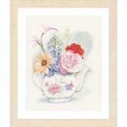 """Набор для вышивания крестом LANARTE """"Цветы в чайнике"""""""