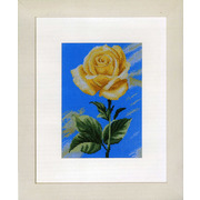 """Набор для вышивания крестом LANARTE """"Желтый цветок на синем фоне"""""""