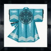 """Набор для вышивания крестом LANARTE """"Кимоно - голубое"""""""