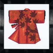 """Набор для вышивания крестом LANARTE """"Кимоно - красное"""""""